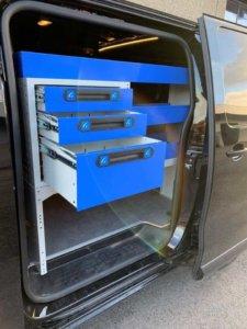 Allestimenti per furgoni cassettiere aperte