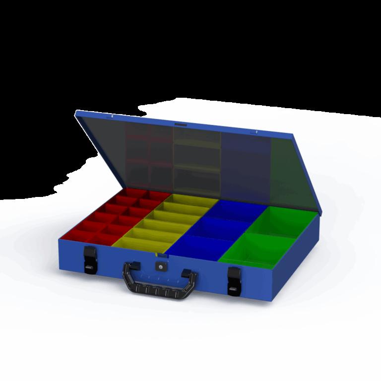 valigetta portaminuteria in acciaio con maniglia in plastica tecnolam