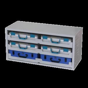 cassettiere per veicoli commerciali 1014*483*360 Con 3 Vassoi 4 Valigie in Plastica