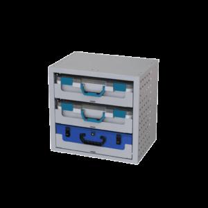Cassettiera 507*483*360 Con 3 Vassoi 2 Valigie in Plastica 6623 e una valigia in metall 10039 COD 010027267/010027168