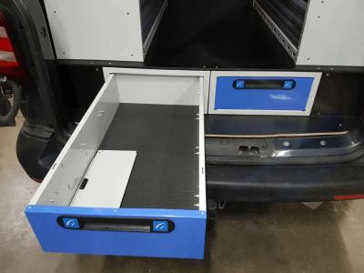 transporter allestimento t5 cassettiera sottopianale per piccoli furgoni