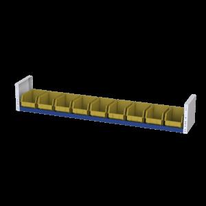 9 vaschette a bocca di lupo estraibili per allestimento furgoni