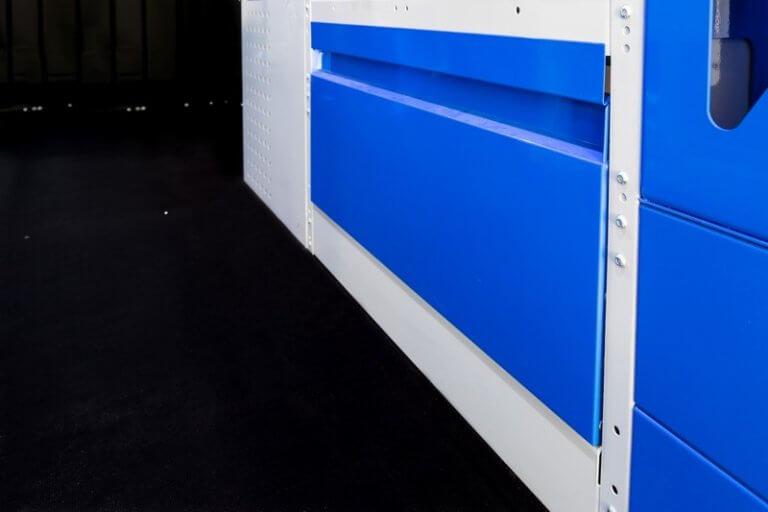 anta basculante per scaffalature furgoni blue