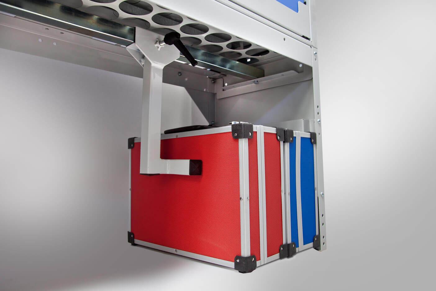 kit ferma valigette per scaffale furgone