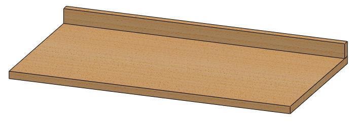 piana per banco da lavoro in legno