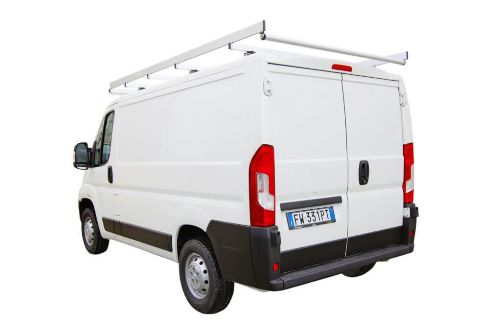 portapacchi robusto per veicoli commerciali