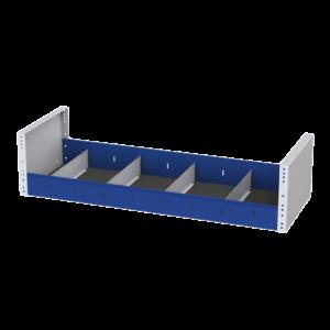 Scaffalatura con divisori in acciaio robusto per ordinare tutto il tuo materiale