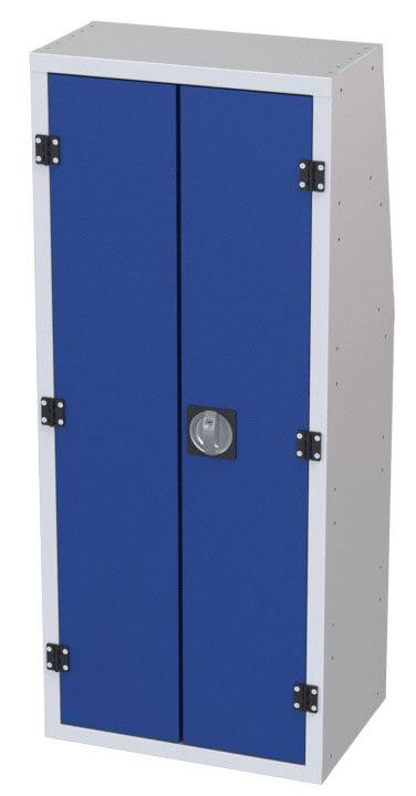 armadio furgone chiuso con antine blu